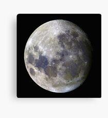 Remote Sensing Moon Canvas Print