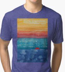 A New Day Dawns original painting Tri-blend T-Shirt