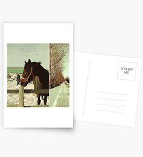 Winter Horses II Postcards