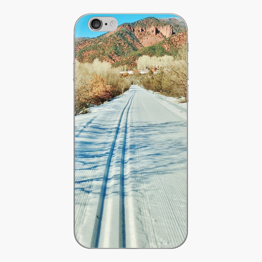 North Through the Jaws of Snowmass Canyon iPhone Skin