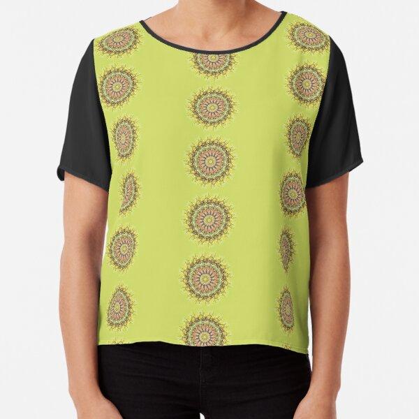 Sunflower Mandala Chiffon Top