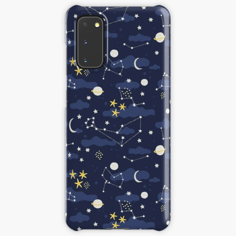 Galaxy - cosmos, moon and stars. Astronomy pattern. Cute cartoon universe design. Case & Skin for Samsung Galaxy