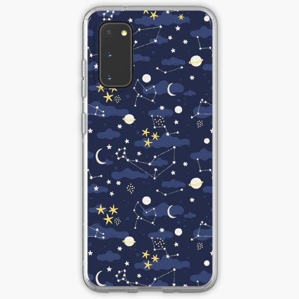 Galaxy - cosmos, moon and stars. Astronomy pattern. Cute cartoon universe design. Samsung Galaxy Soft Case