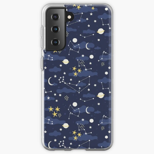Galaxy - cosmos, moon and stars. Astronomy pattern. Cute cartoon universe design. Samsung Galaxy Soft Case