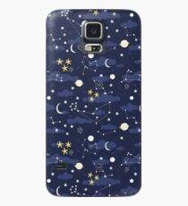 cosmos, moon and stars. Astronomy pattern Case/Skin for Samsung Galaxy
