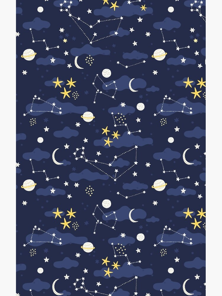 Galaxy - cosmos, moon and stars. Astronomy pattern. Cute cartoon universe design. by kostolom3000