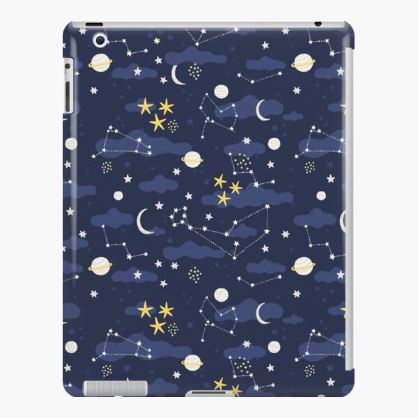 Galaxy - cosmos, moon and stars. Astronomy pattern. Cute cartoon universe design. iPad Snap Case