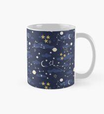Taza Cosmos, luna y estrellas. Patrón astronomico