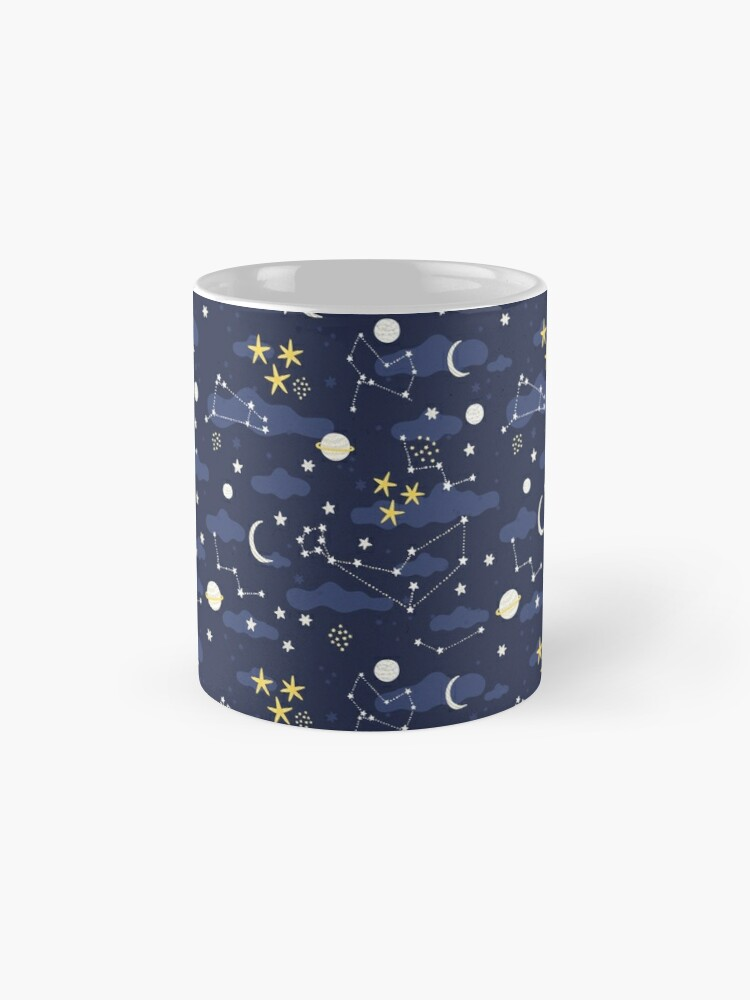 Alternate view of cosmos, moon and stars. Astronomy pattern Mug
