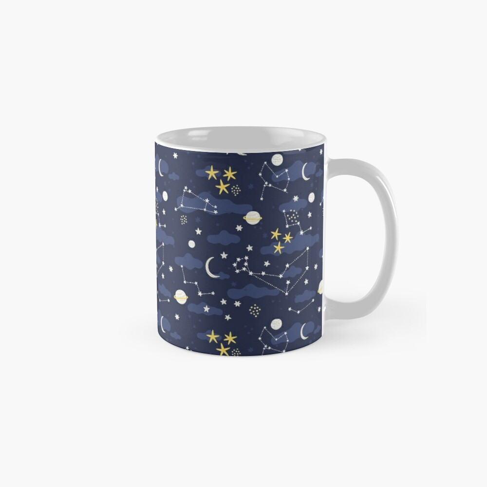 cosmos, moon and stars. Astronomy pattern Mug