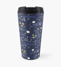 cosmos, moon and stars. Astronomy pattern Travel Mug