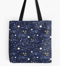 cosmos, moon and stars. Astronomy pattern Tote Bag