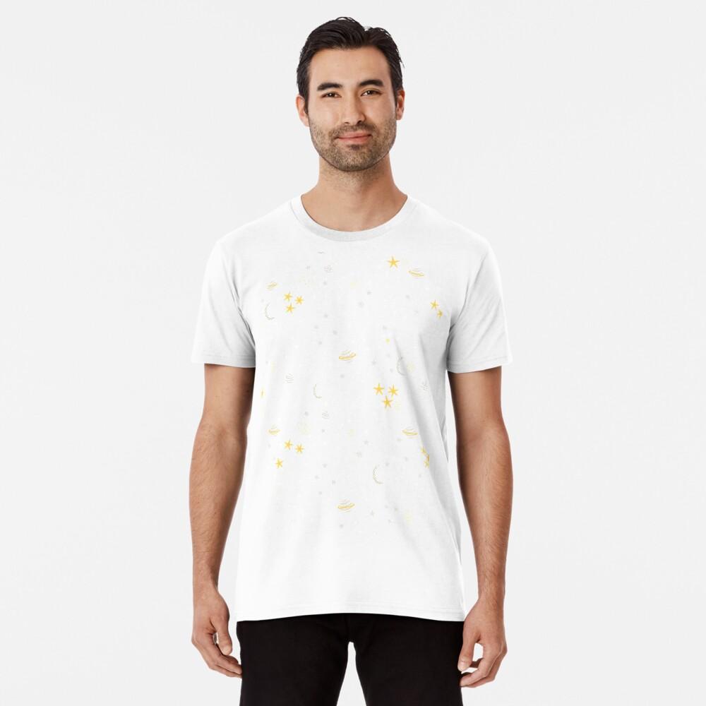 Kosmos, Mond und Sterne. Astronomie-Muster Premium T-Shirt