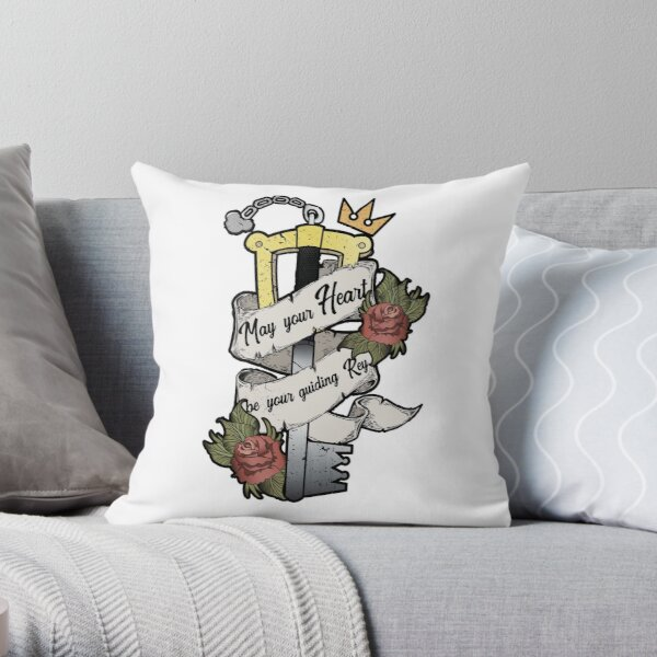 Kingdom Hearts May your heart be your guiding key Throw Pillow