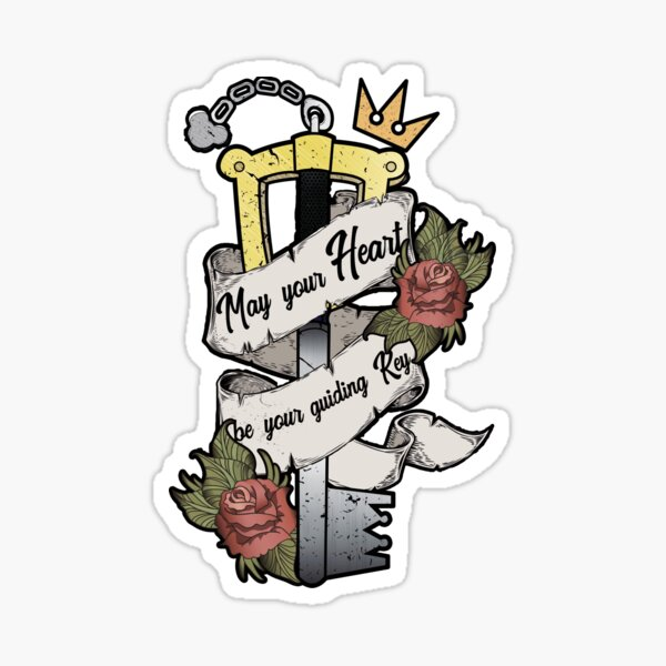Kingdom Hearts May your heart be your guiding key Sticker