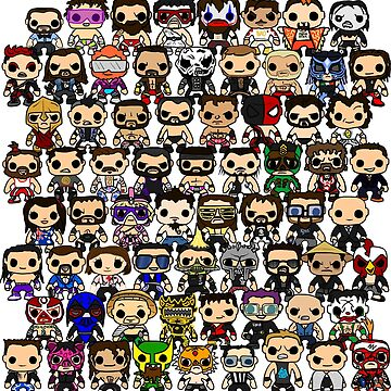 QWA first 50 shows - pop vinyl by Chewfactor