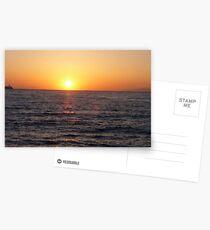 Santorini Sunset #3 Postcards