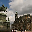Dresden city centre on a great summer day by christopher363