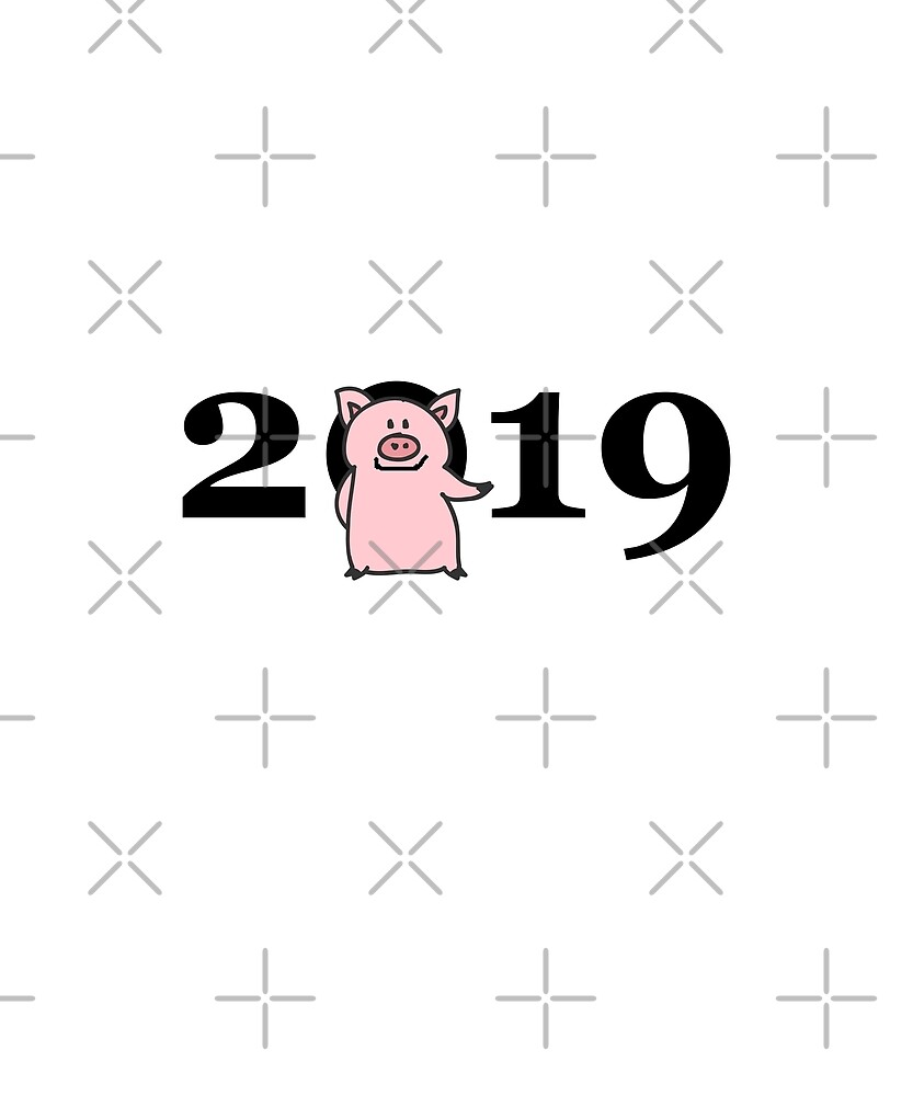 Chinese New Year 2019 Pink Pig for Zero Color by TinyStarAmerica