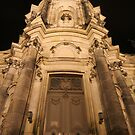 Night view of the church tower of Hofkirche, Dresden by christopher363
