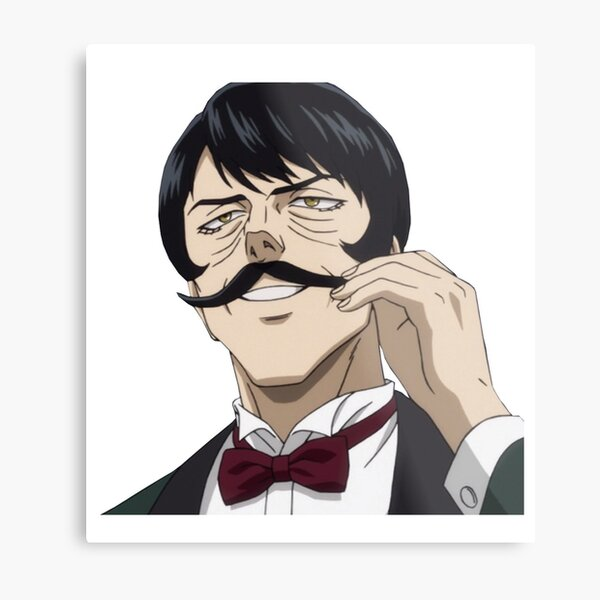 mustache avatar, one punch man, ワンパンマン Metal Print