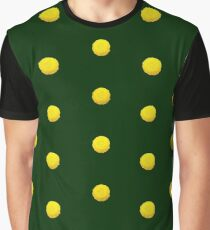 Yellow Flowers On Green Graphic T-Shirt