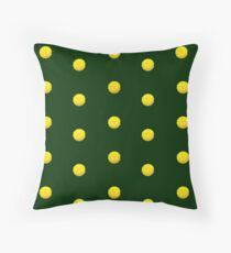 Yellow Flowers On Green Floor Pillow