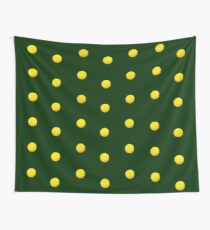 Yellow Flowers On Green Wall Tapestry