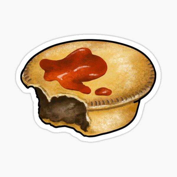 Aussie Meat Pie Floater Sticker