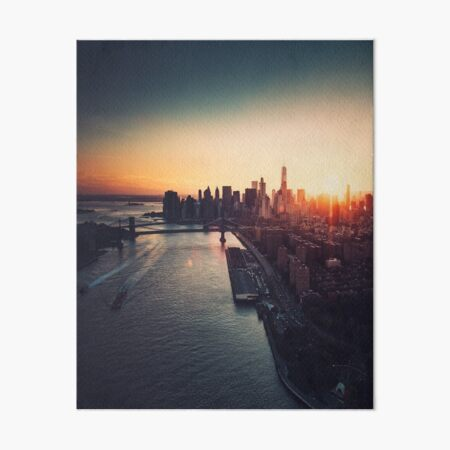 new york city skyline Art Board Print