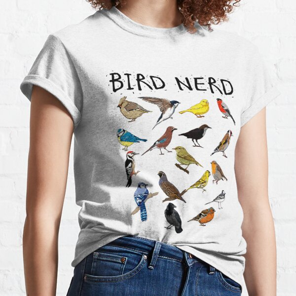 'Bird Nerd Different Kinds of Bird' Cute Bird Gift Classic T-Shirt