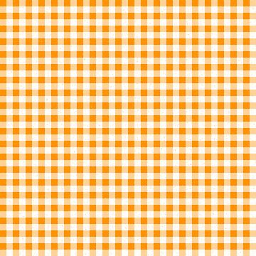 Gingham Orange and White Pattern by MarkUK97