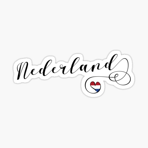 Nederland Netherlands Heart Flag, Holland, Dutch Sticker