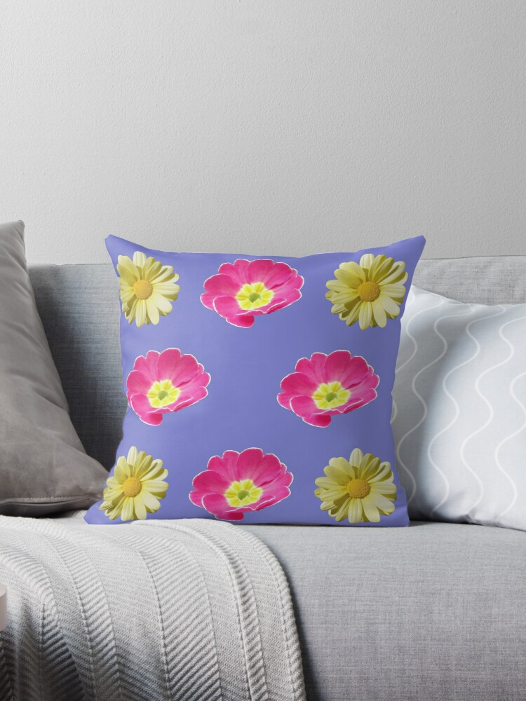 Pink And Yellow Flower Design by hurmerinta