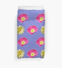Pink And Yellow Flower Design Duvet Cover