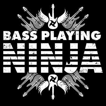 Bass Guitar Player Gifts Bass Playing Ninja by shoppzee