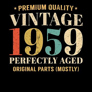 Vintage Since 1959 Limited Edition 60th Birthday Gift by SpecialtyGifts