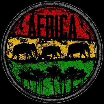Africa Reggae von Periartwork