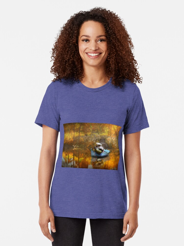 Alternative Ansicht von Tier - Fisch - Der Kapitän Vintage T-Shirt