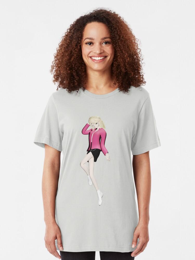 Alternative Ansicht von Manga Girl Slim Fit T-Shirt