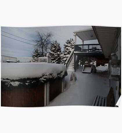 My Deck and Pool After the Storm Poster