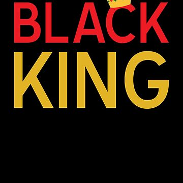 Black History Month T Shirt Boys 'Black King' African Pride by davdmark