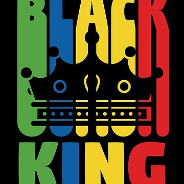 Black History Month T-Shirt Boys 'Black King' African Pride by davdmark