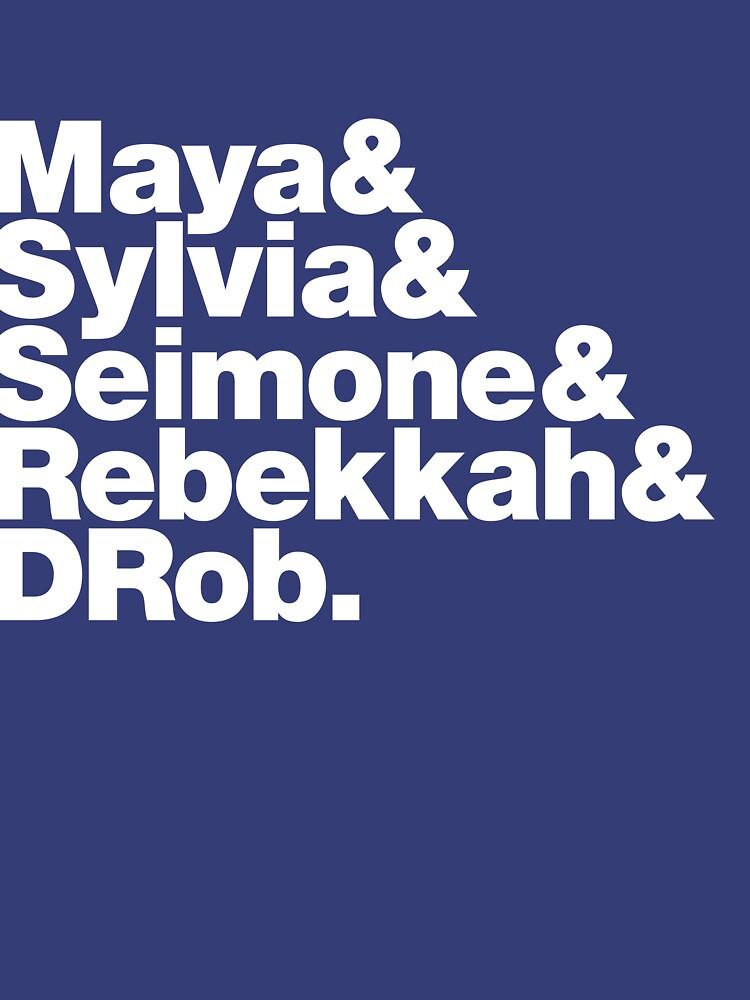 Minnesota Lynx ampersand T-shirt: Maya&Sylvia&Seimone&Rebekkah&DRob. by lorieshaull