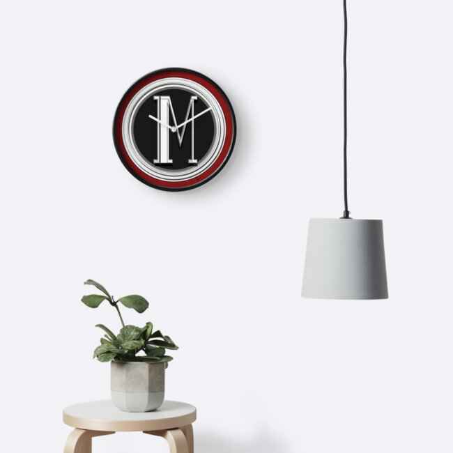 Deco Cafe Marquee  Monogram  letter M by CecelyBloom