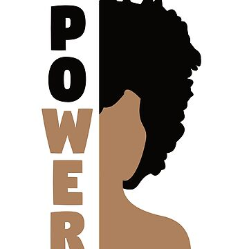 Black History Month T-Shirt 'Power' Afro African Pride Tee by davdmark