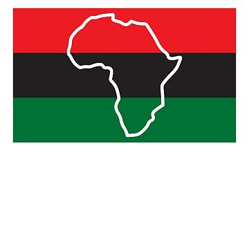 Black History Month T-Shirt Africa Flag African Pride Tee by davdmark