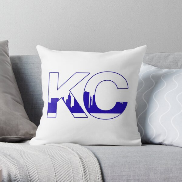 Kansas City Royals Skyline Throw Pillow