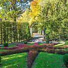 Germany. Bavaria. Linderhof Palace. Back Garden. by vadim19
