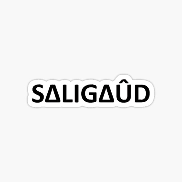 Le logo officiel des saligauds (horizontal) Sticker